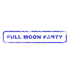 Full moon party rubber stamp vector