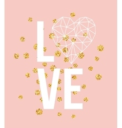Happy valentines day love greeting card with white vector image