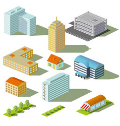 Houses and buildings vector