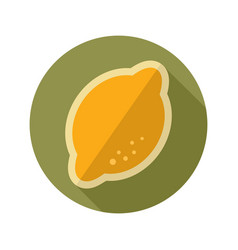 Lemon flat icon tropical fruit vector