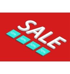 modern sale discount set vector image