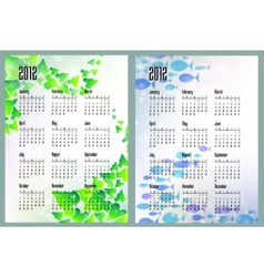 nature calendars vector image vector image
