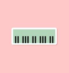 Paper sticker on stylish background piano keys vector
