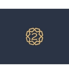 Premium number 2 logo icon design luxury vector