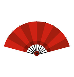 Red open hand fan icon isolated vector