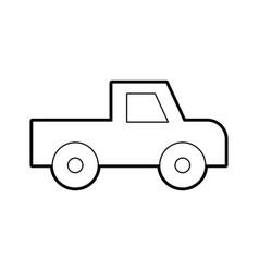 Safari van of plato isolated icon vector