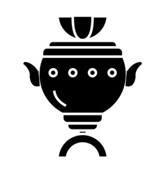 samovar icon black sign on vector image vector image
