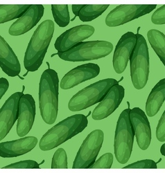 Seamless pattern with fresh ripe cucumbers vector image vector image