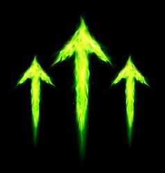 Three fire arrows vector