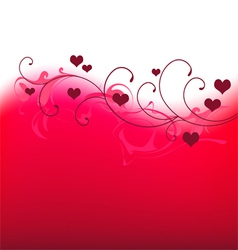 Valentine banner with hearts vector image