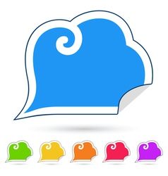 Stickers speech bubbles vector