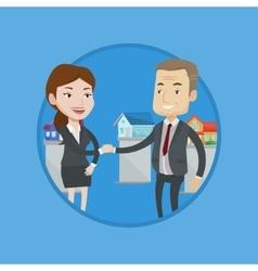 Agreement between real estate agent and buyer vector