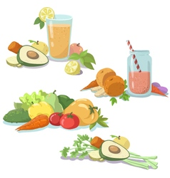 Smoothie fresh juice vector