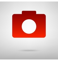 Red icon with shadow vector
