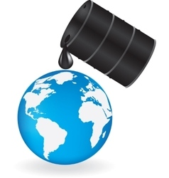 Oil is dripping on earth vector