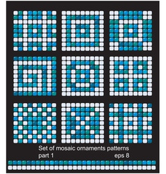 Mosaic ornament patterns vector