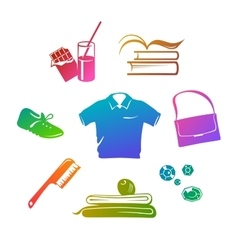 Sport wear and accessories gradient fill vector