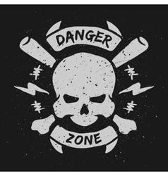 Danger zone emblem vector image