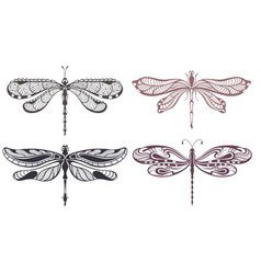 Decorative dragonflies vector