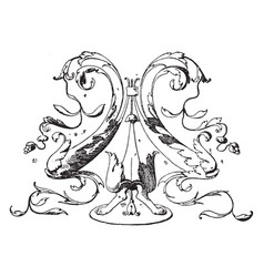 Dolphin frieze is designed by bramate in 1504 vector