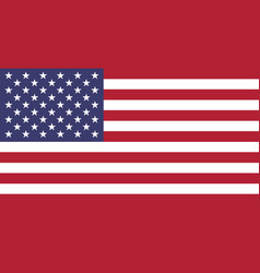 Flag of usa in national colors vector