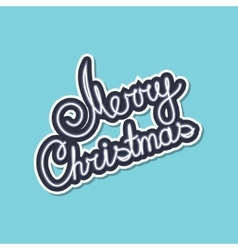 Gray text merry christmas on green background vector