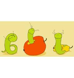 Green Worm vector image vector image