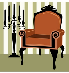 interior scene with armchair vector image vector image