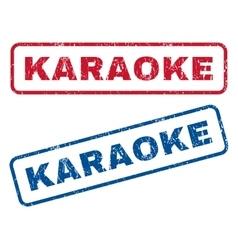 Karaoke rubber stamps vector