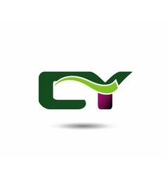 Letter c and y monogram logo vector