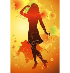 Mademoiselle Autumn vector image