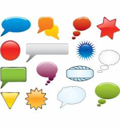 message icon set vector image vector image