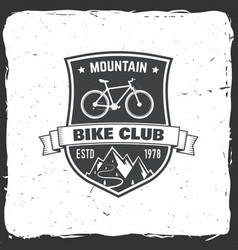 mountain bike club vector image vector image