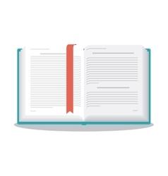 One open book design vector image vector image