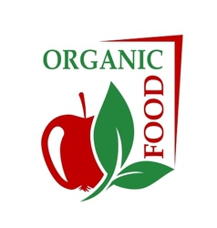 Organic food icon vector image vector image