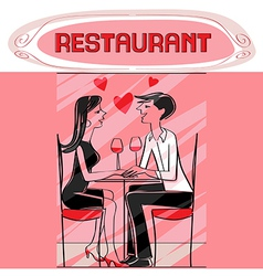 restaurant lovers vector image vector image