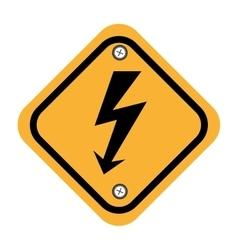 Rhombus security yellow sign vector
