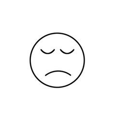 sadeness emoticon vector image