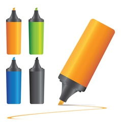 set of highlighter pen marker s vector image vector image