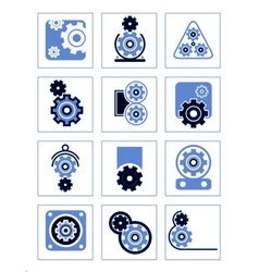 set of symbols Gear vector image vector image