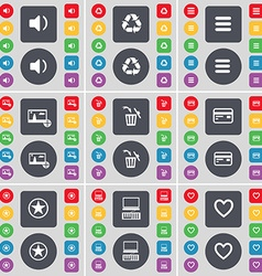 Sound Recycling Apps Picture Trash can Credit card vector image