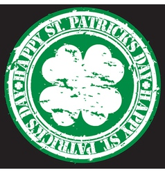 st patricks day stamp vector image vector image