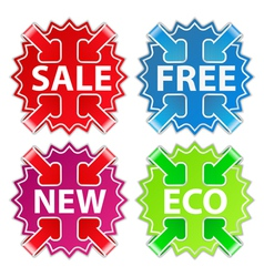 stickers with arrows vector image vector image
