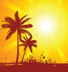 Summer scene vector