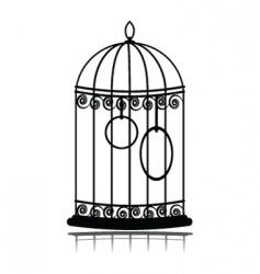 vintage birdcage vector image