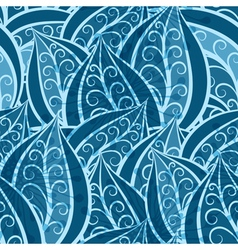 vintage pattern with patterned leaves vector image