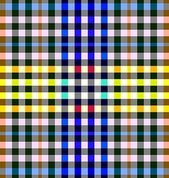 Colorful checkered seamless background gingham vector