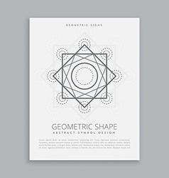 Sacred geometric lines shapes vector