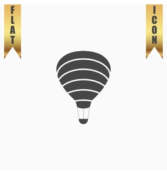 Sky balloon flat icon vector