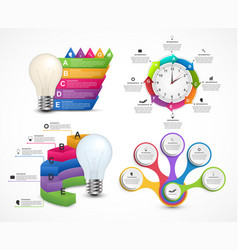 Big collection of colorful infographics design vector